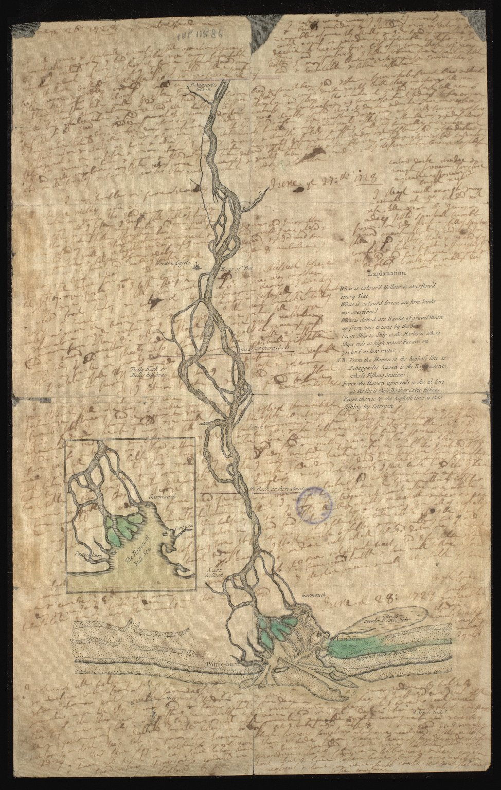 Plan of the mouth and lower reaches of the River Spey [1 of 2]