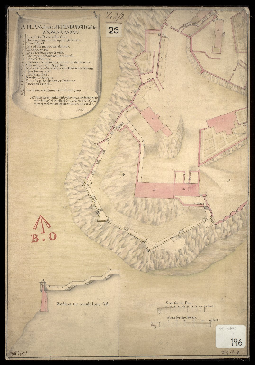 A Plan of part of the Edinburgh Castle [1 of 1]