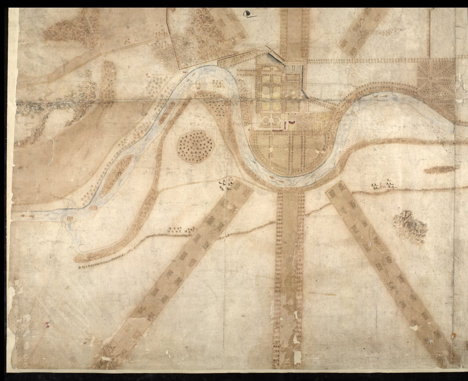 A Plan and Survey of the Gardens of Taymouth [Castle] and County Adjacent. An. 1720. [4 of 4]