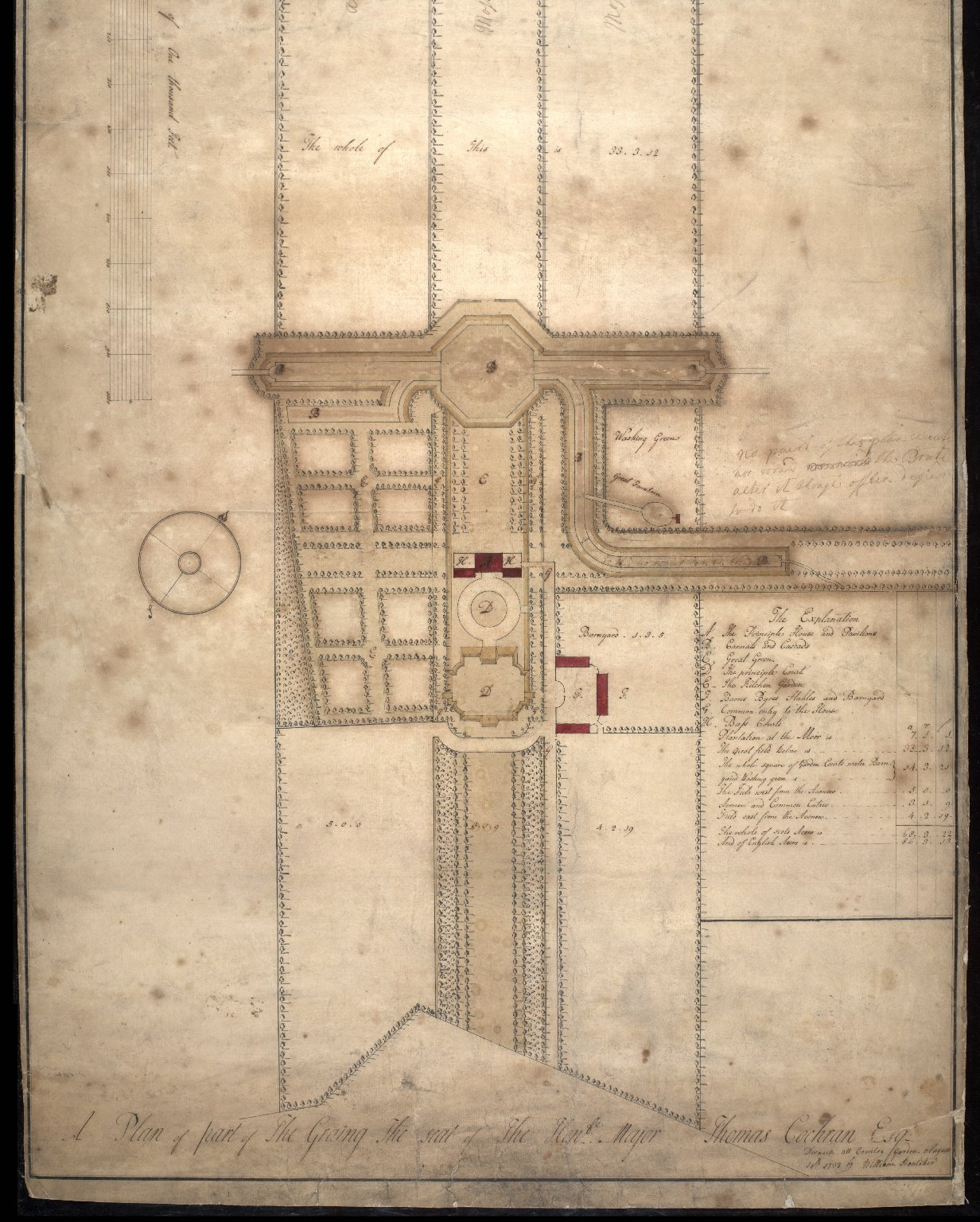 Plan of part of The Graing [i.e. Grange], the seat of the Hon. Major Thomas Cockran Esq. [2 of 2]