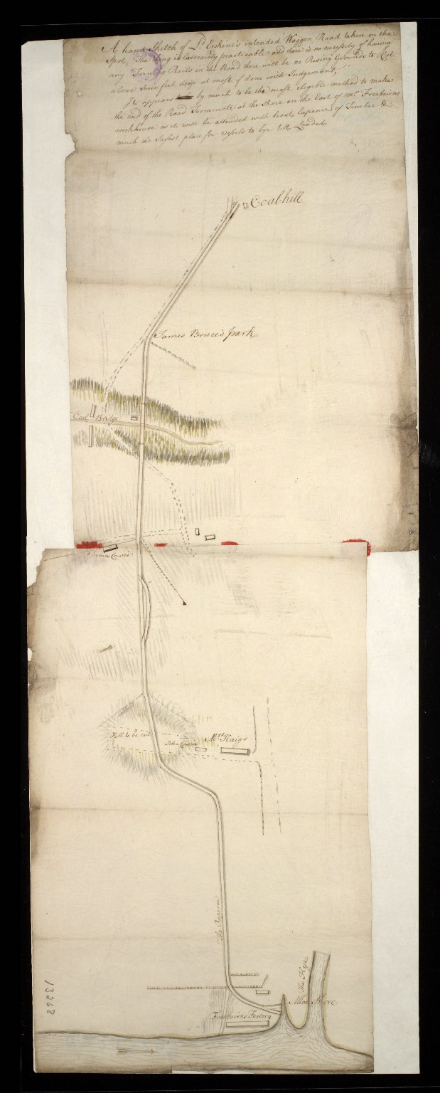 A hand Sketch of L[or]d Erskine's intended Waggon Road taken on the Spot [...] [1 of 1]