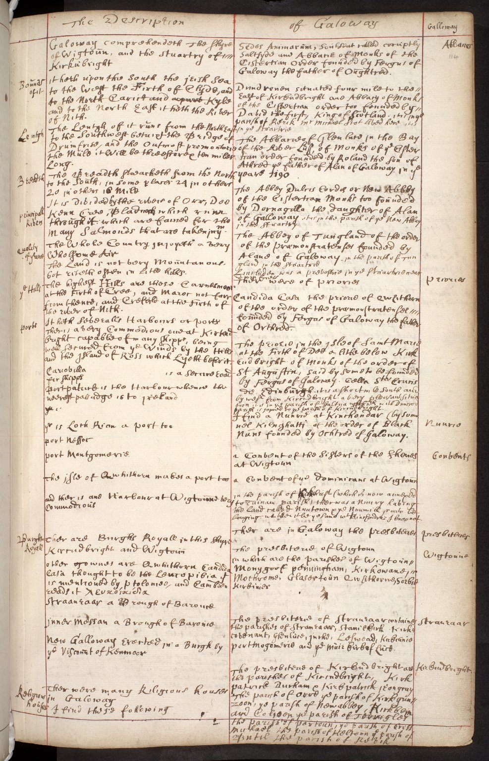 Atlas Scoticus, or a Description of Scotland Ancient and Modern. [137 of 259]