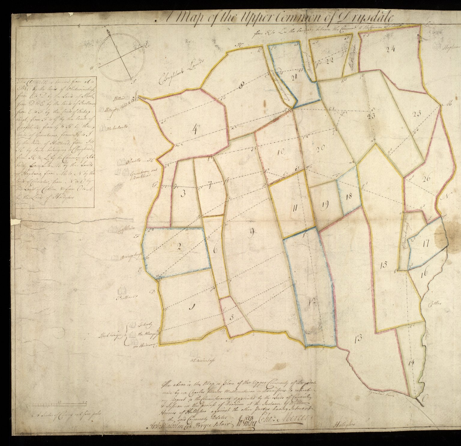 A Map of the Upper Common of Drysdale [Dryfesdale] [1 of 2]