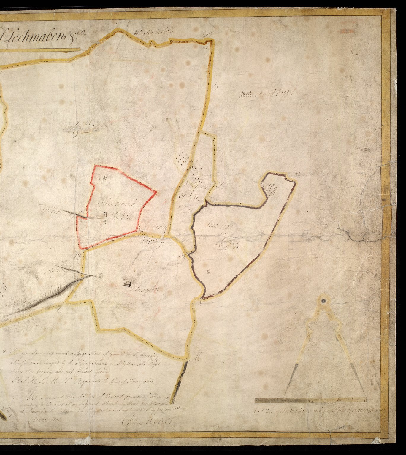 A Map of part of the South Common of Lochmaben & ca. [2 of 2]