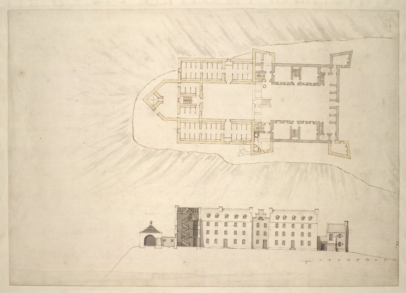 Plan of Fort and Barracks. - Killywhymen. [2 of 2]