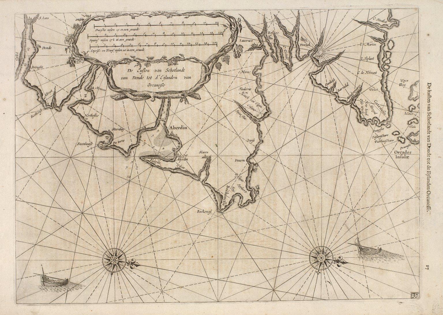 De Custen van Schotlandt van Donde tot d'Eijlanden van Orcanesse. [1 of 2]