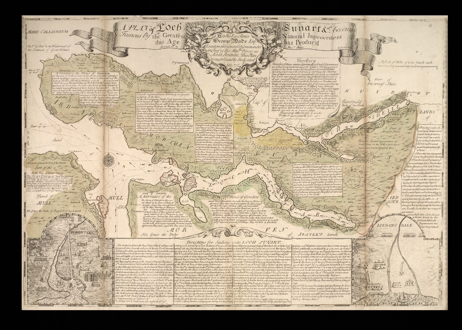 A plan of Loch Sunart ... become famous by the greatest national improvement this age has produc'd [1 of 1]