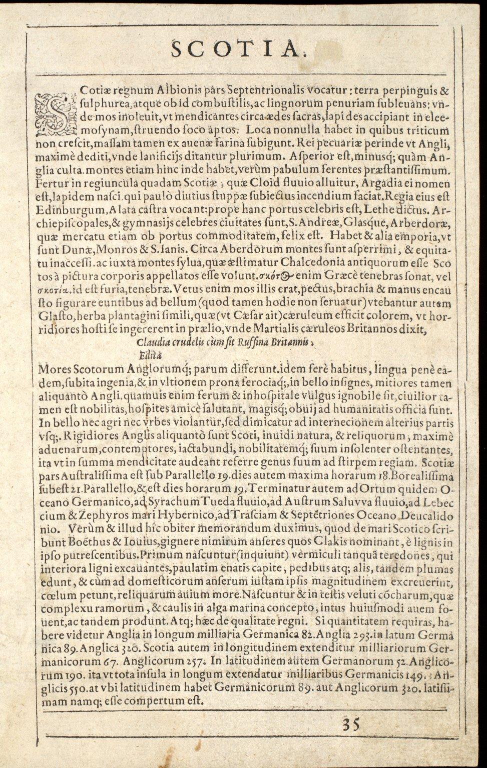 Scotiae Tabula [2 of 2]