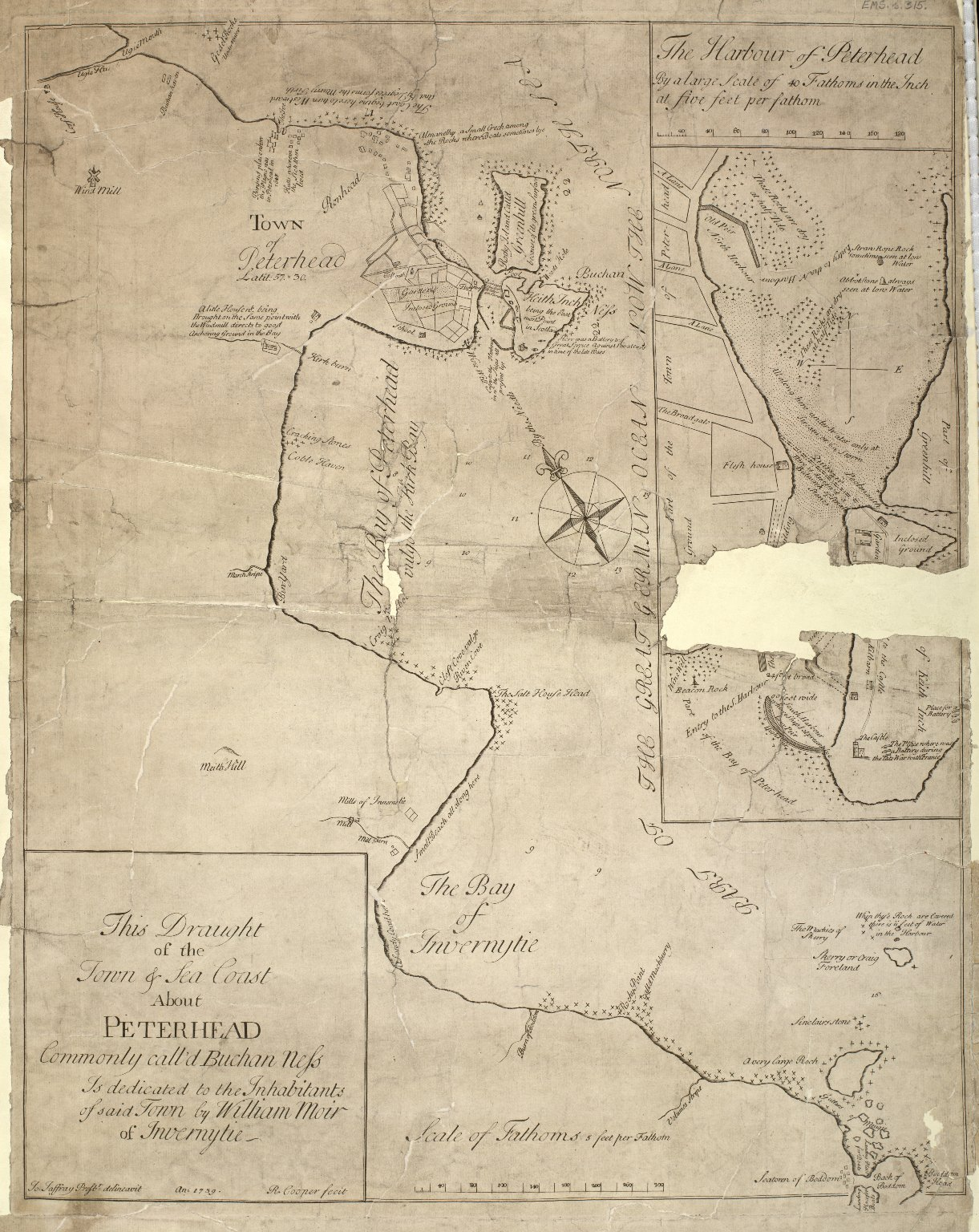 This draught of the town and sea coast about Peterhead, commonly call'd Buchan Ness [1 of 1]