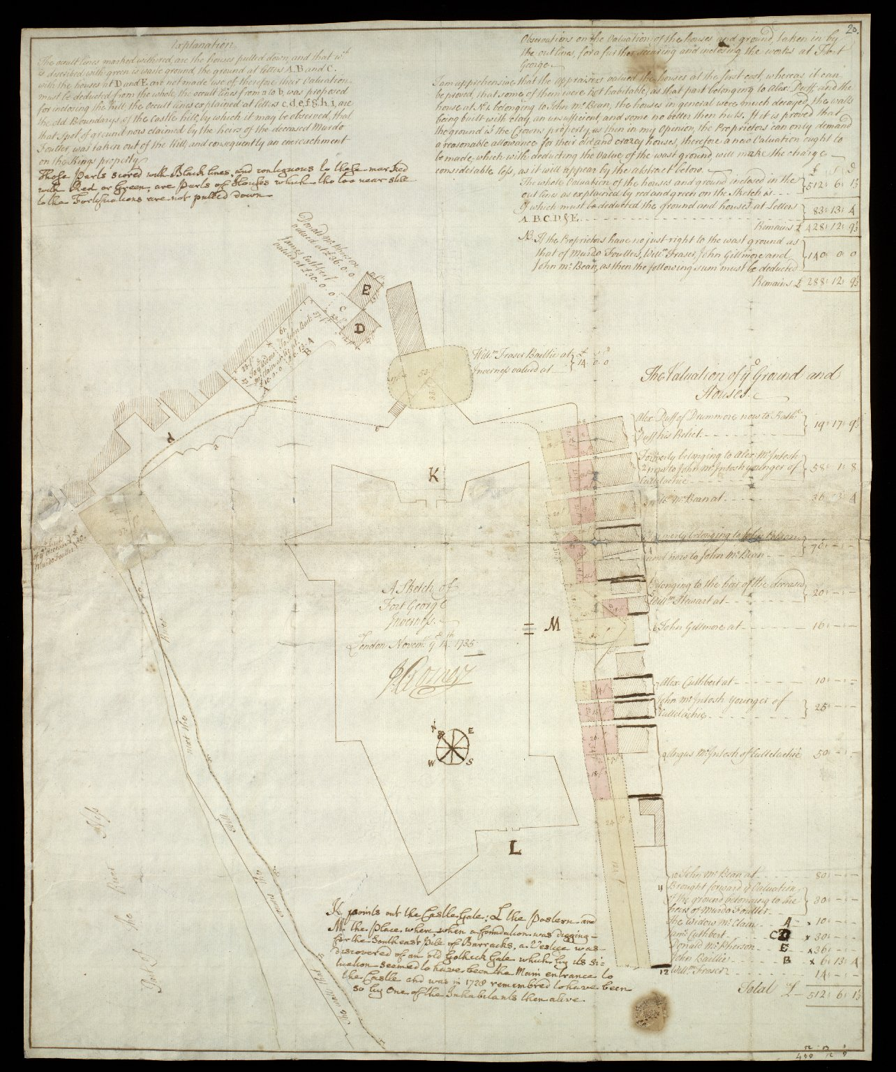 A Sketch of Fort George Inverness [1 of 2]