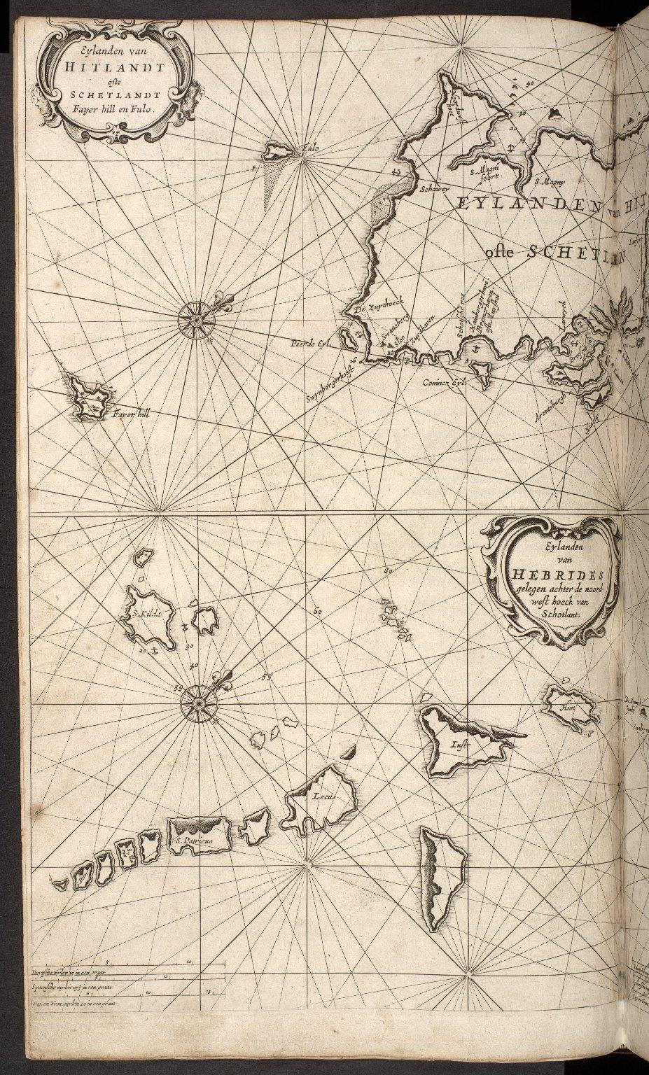 Eylanden van Fero oste Farre ; Eylanden van Hebrides gelegen achter de noord-west hoeck van Schotlant ; Eylanden van Hitlandt oste Schetlandt, Fayer hill, en Fulo. [1 of 2]