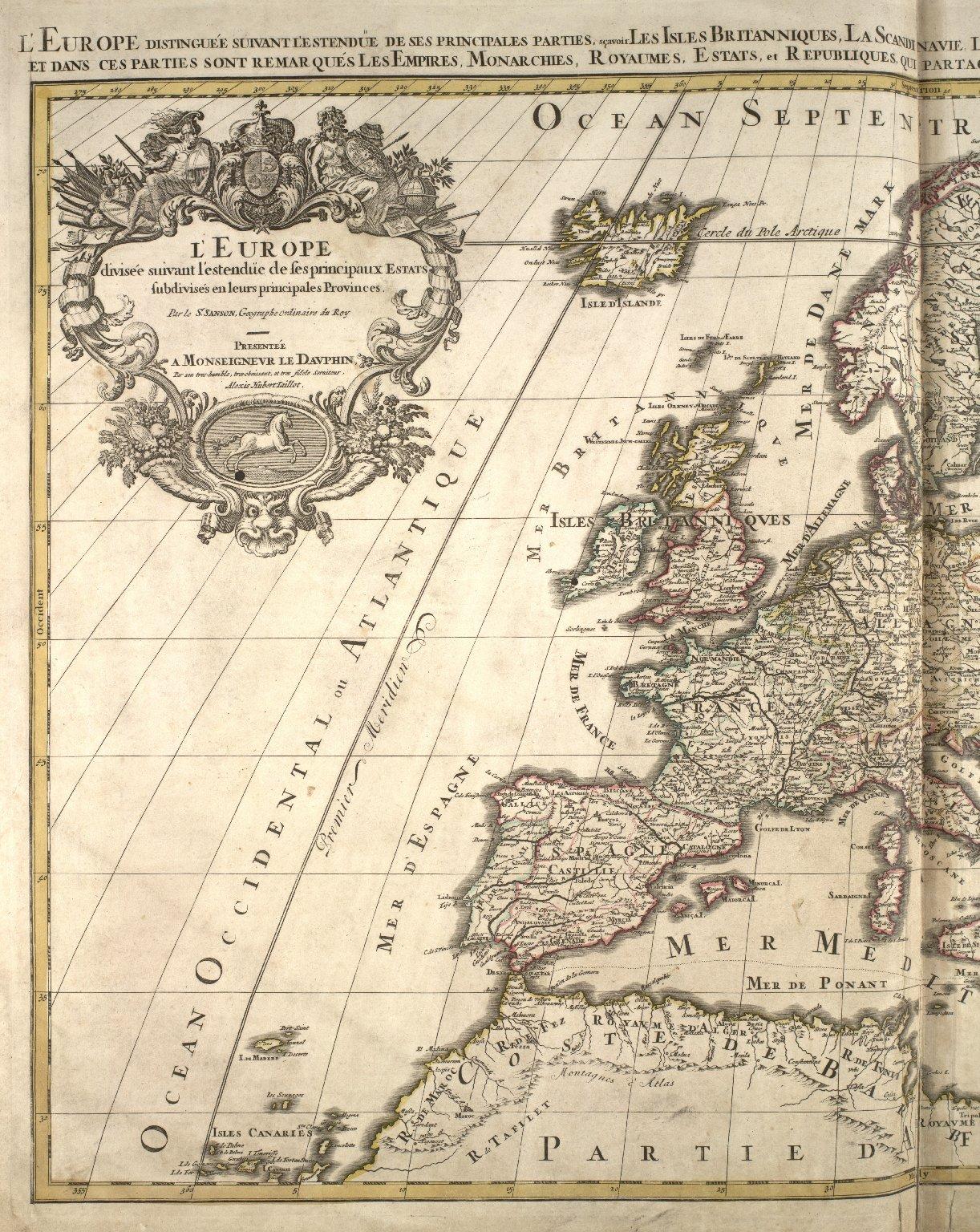 L'Europe divisée suivant l'estendue de ses principaux estats subdivisés en leurs principales provinces [1 of 2]