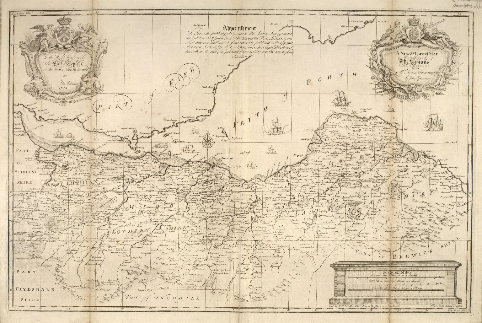 A New and Correct map of the Lothians from Mr. Adair's observations [1 of 1]