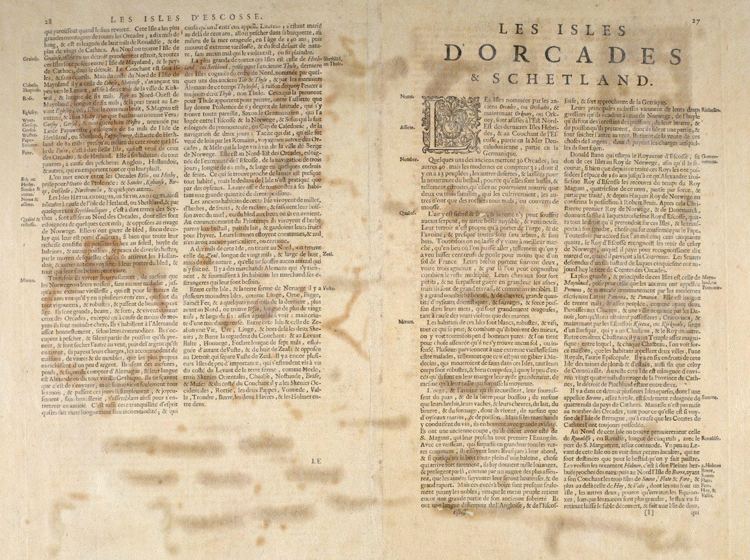Orcadum et Shetlandiae insularum accuratissima descriptio. [2 of 2]