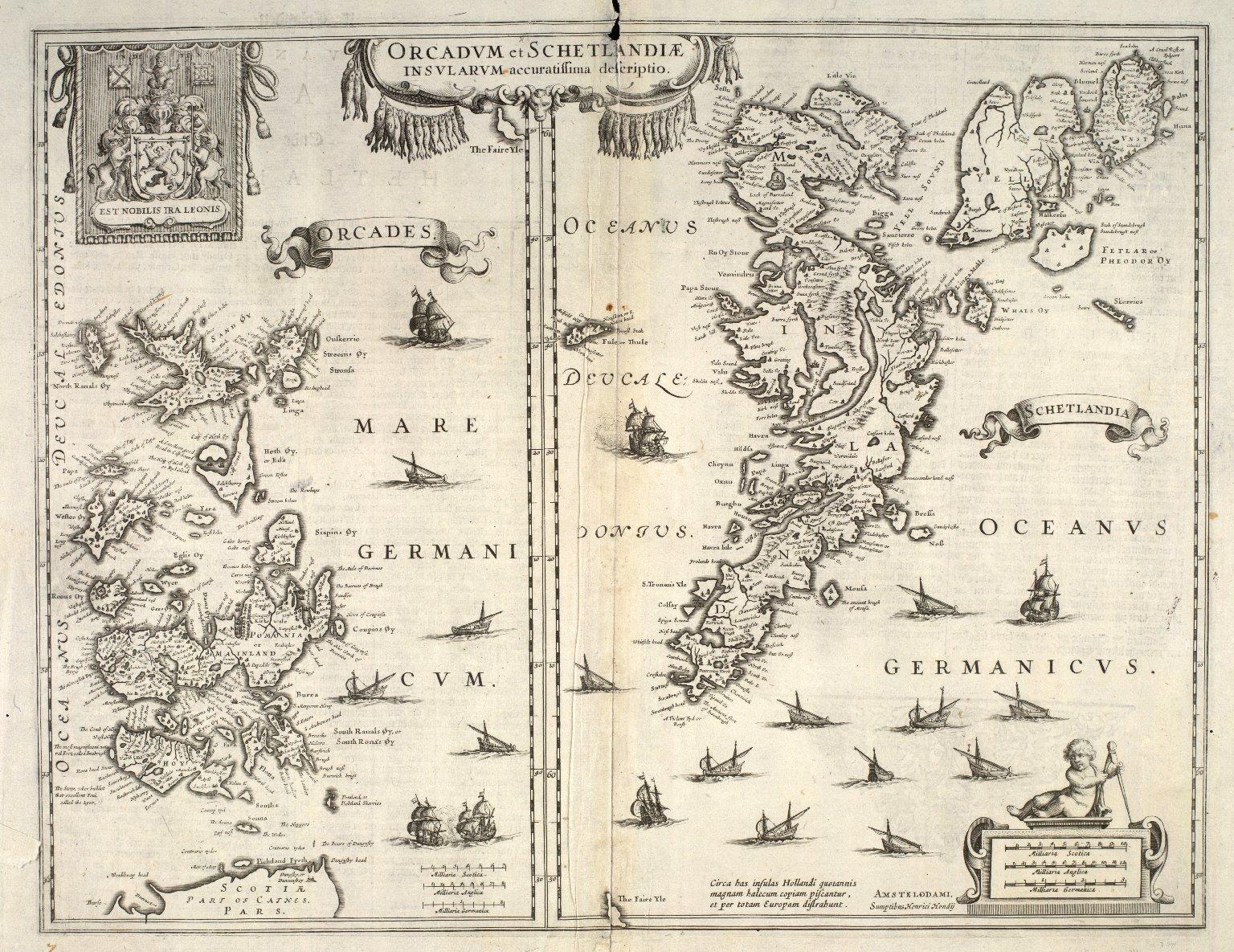 Orcadum et Shetlandiae insularum accuratissima descriptio. [1 of 2]