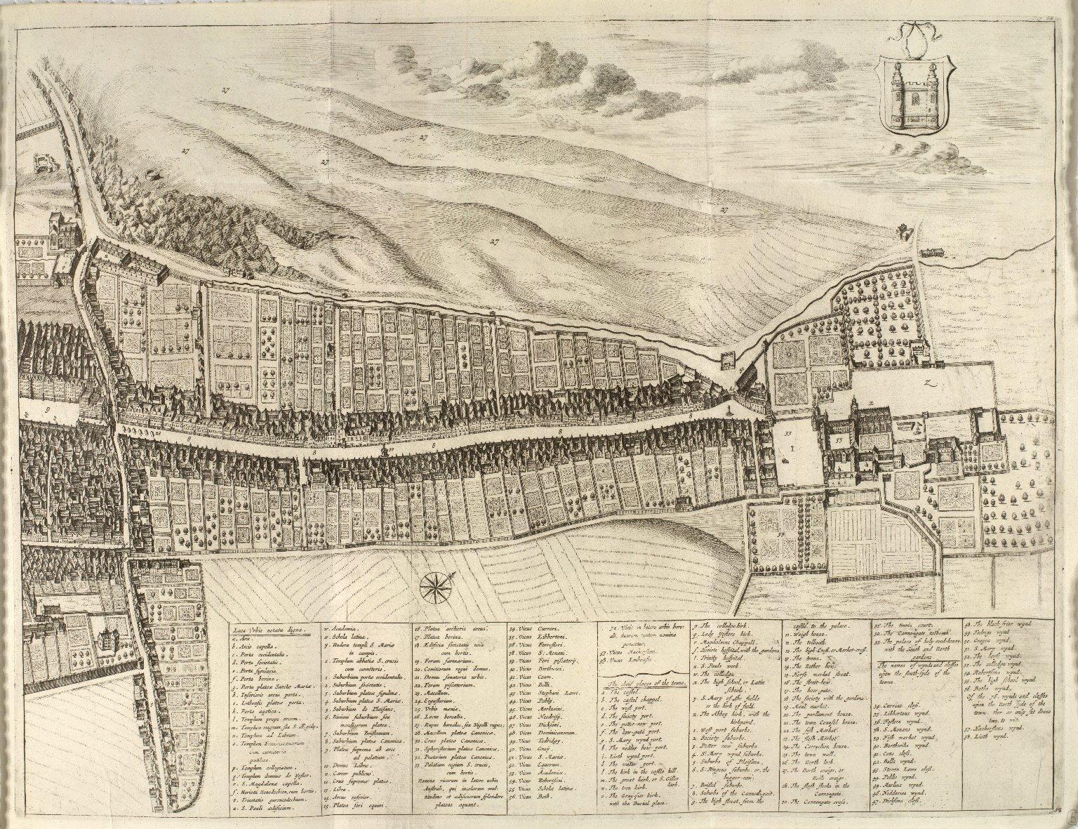 Plan de la ville d'Edinbourg, capitale d'Ecosse. [2 of 2]