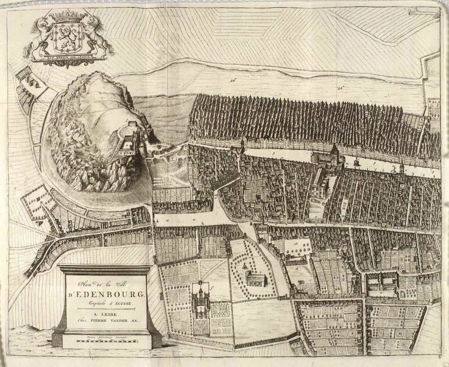 Plan de la ville d'Edinbourg, capitale d'Ecosse. [1 of 2]