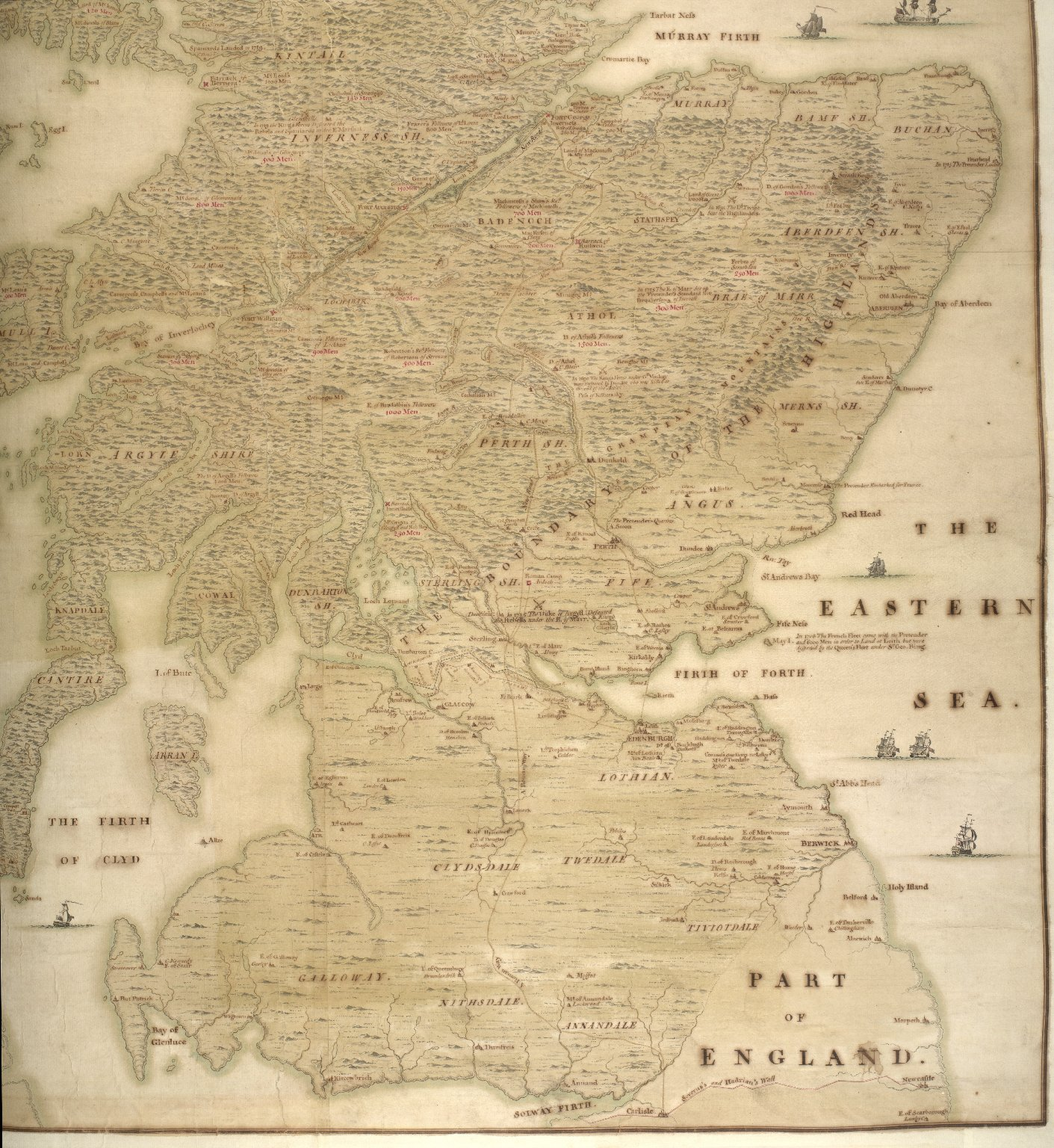 A description of the Highlands of Scotland, the situation of the several clans and the number of men able to bear arms, as also ye forts lately erected and roads of communication or military ways carried on by His Majesty's command ... [3 of 5]