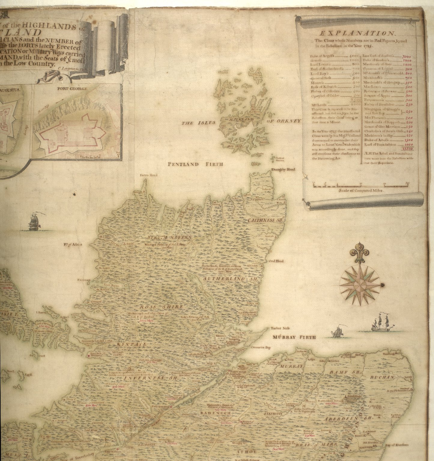 A description of the Highlands of Scotland, the situation of the several clans and the number of men able to bear arms, as also ye forts lately erected and roads of communication or military ways carried on by His Majesty's command ... [4 of 5]