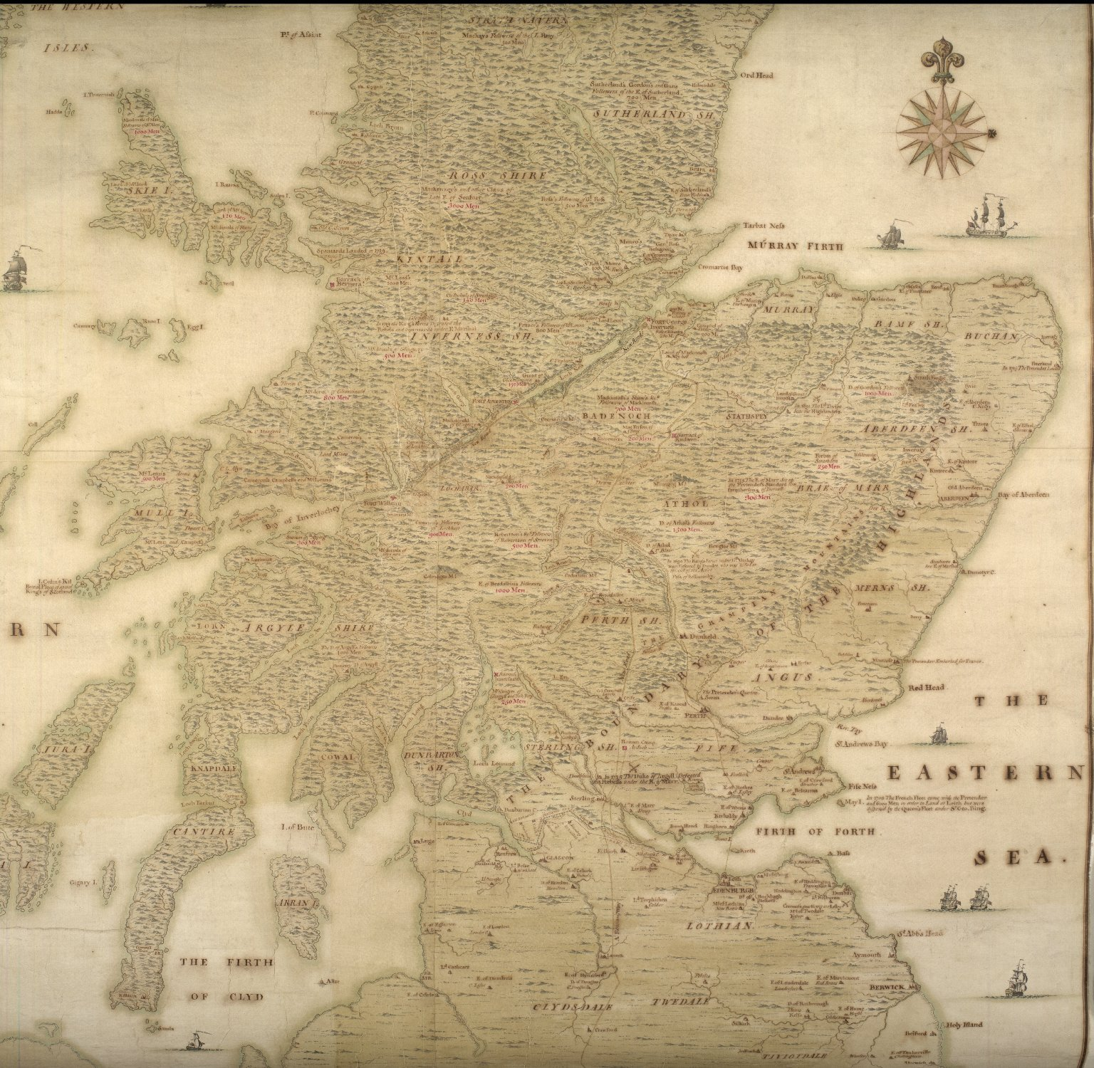 A description of the Highlands of Scotland, the situation of the several clans and the number of men able to bear arms, as also ye forts lately erected and roads of communication or military ways carried on by His Majesty's command ... [5 of 5]