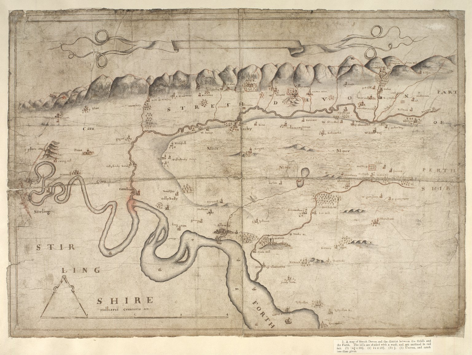 [A map of Strath Devon and the district between the Ochils and the Forth] [1 of 1]