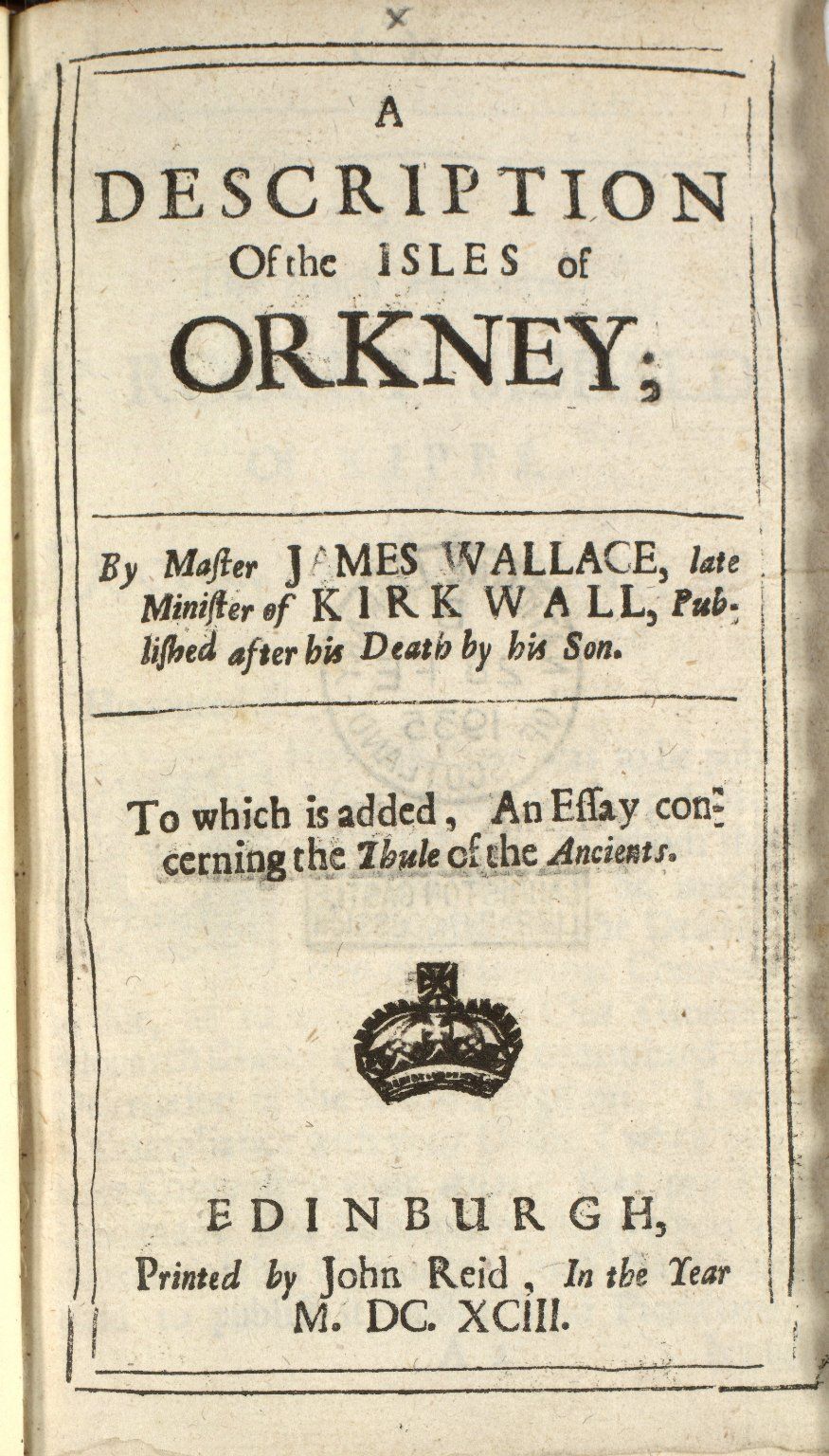 A description of the Isles of Orkney; [1 of 6]