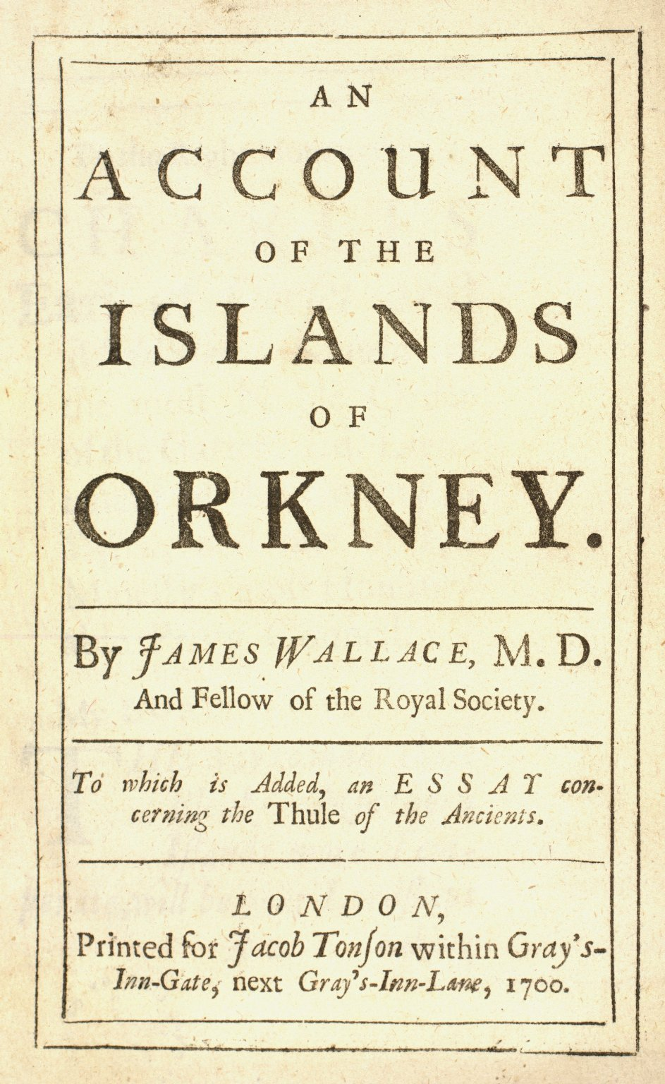 An account of the Islands of Orkney. [1 of 1]