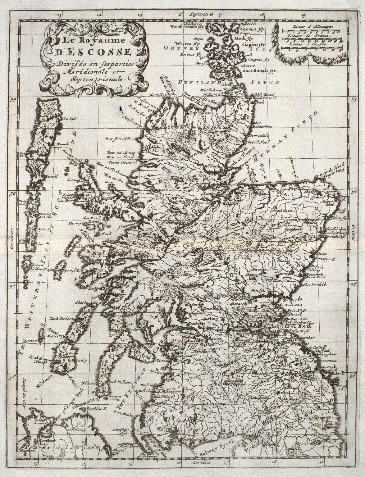 Le Royaume D' Escosse Divisèe en ses parties Meridionale et Septentrionale. [1 of 1]