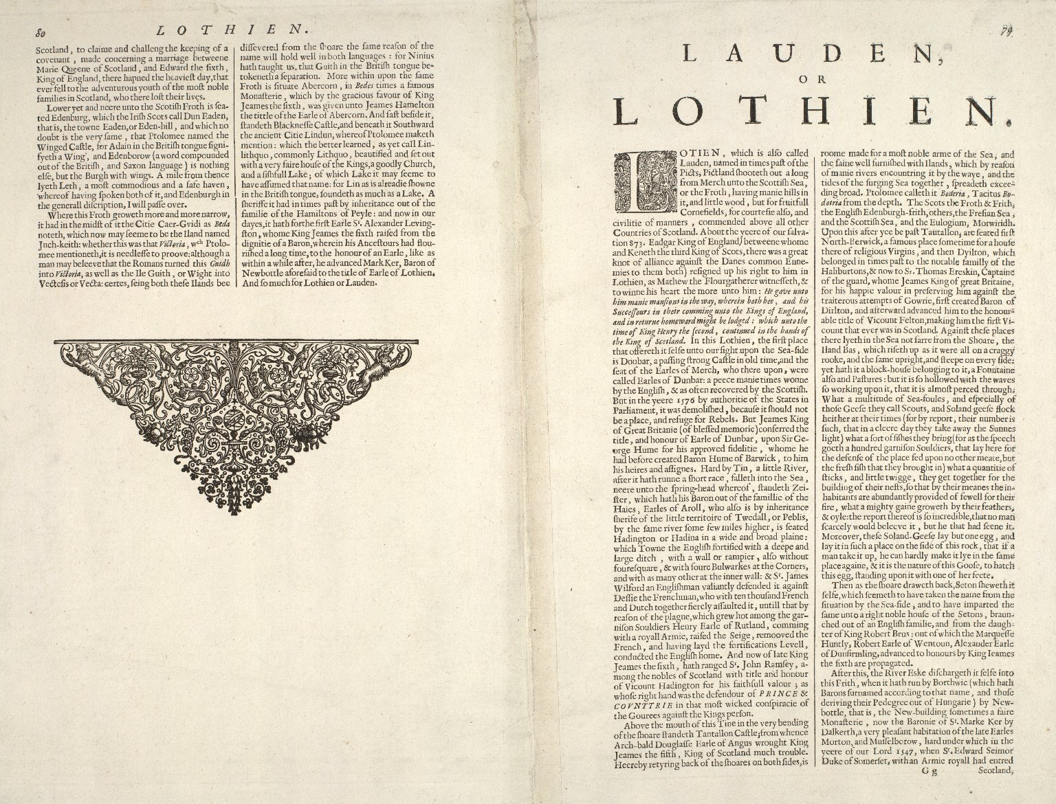 A new description of the shyres Lothian and Linlitquo [2 of 2]