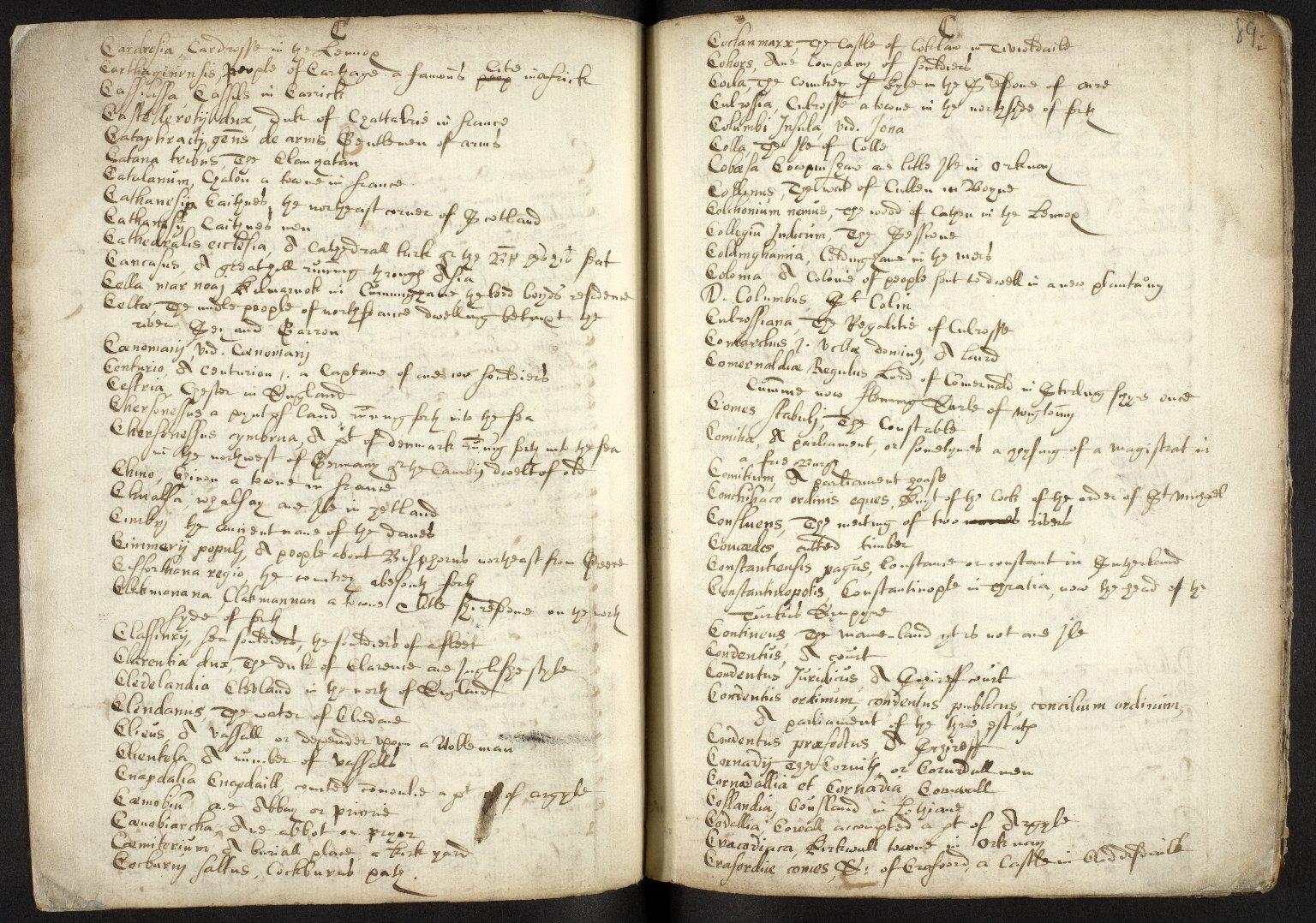 Nomenclator Geographicus ad historiam Buchanan cum interpretatione aliarum etiam vocum difficiliorum [05 of 16]