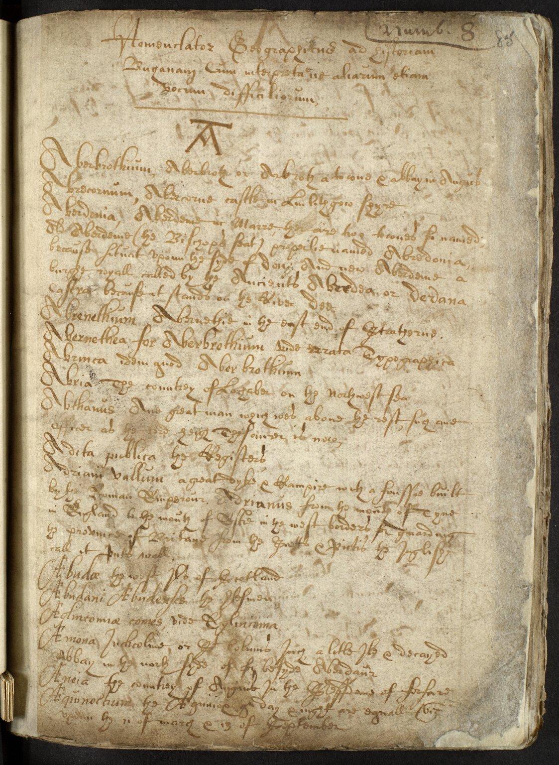 Nomenclator Geographicus ad historiam Buchanan cum interpretatione aliarum etiam vocum difficiliorum [01 of 16]