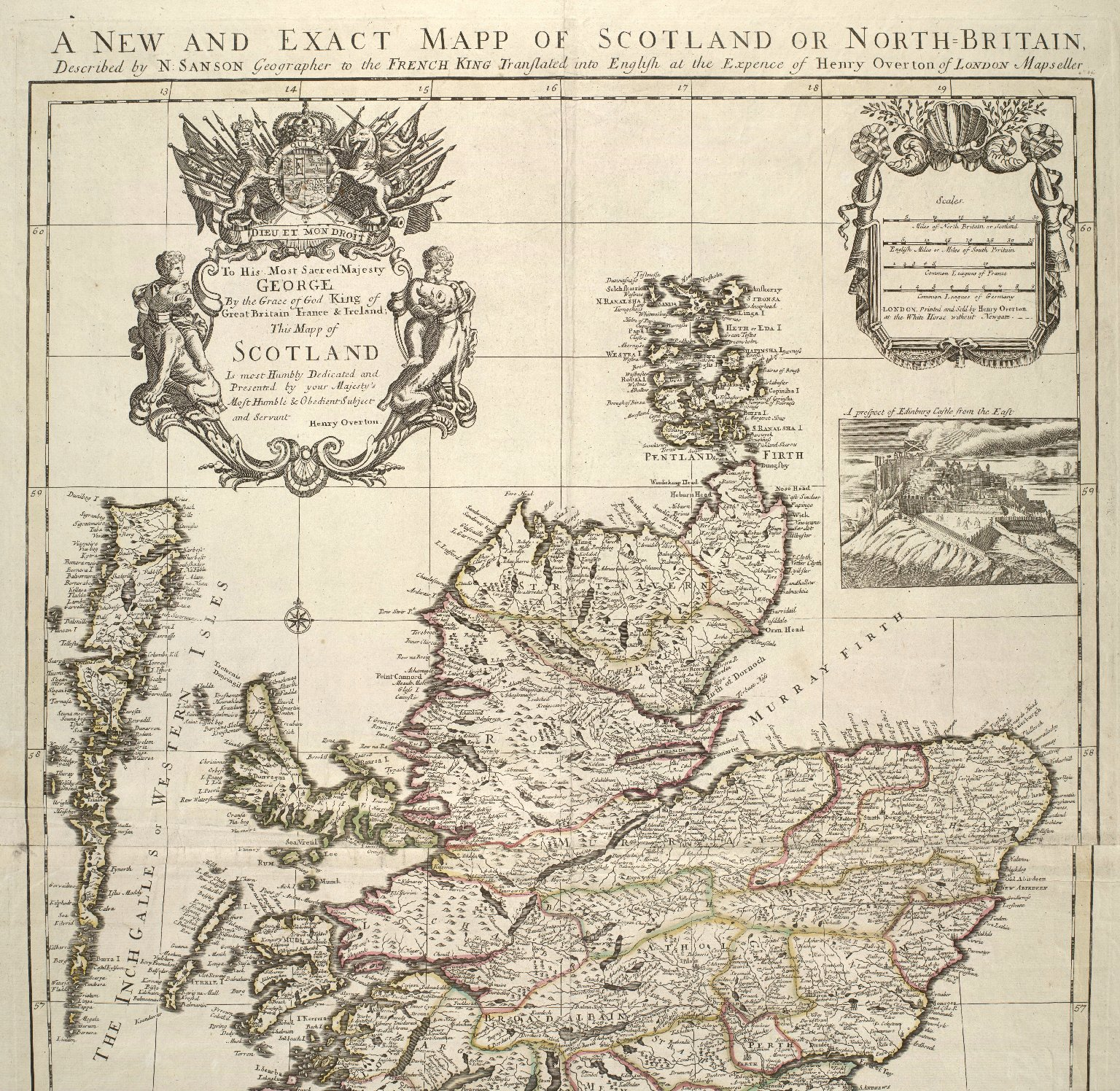 A new and exact mapp of Scotland, or North Britain [2 of 2]