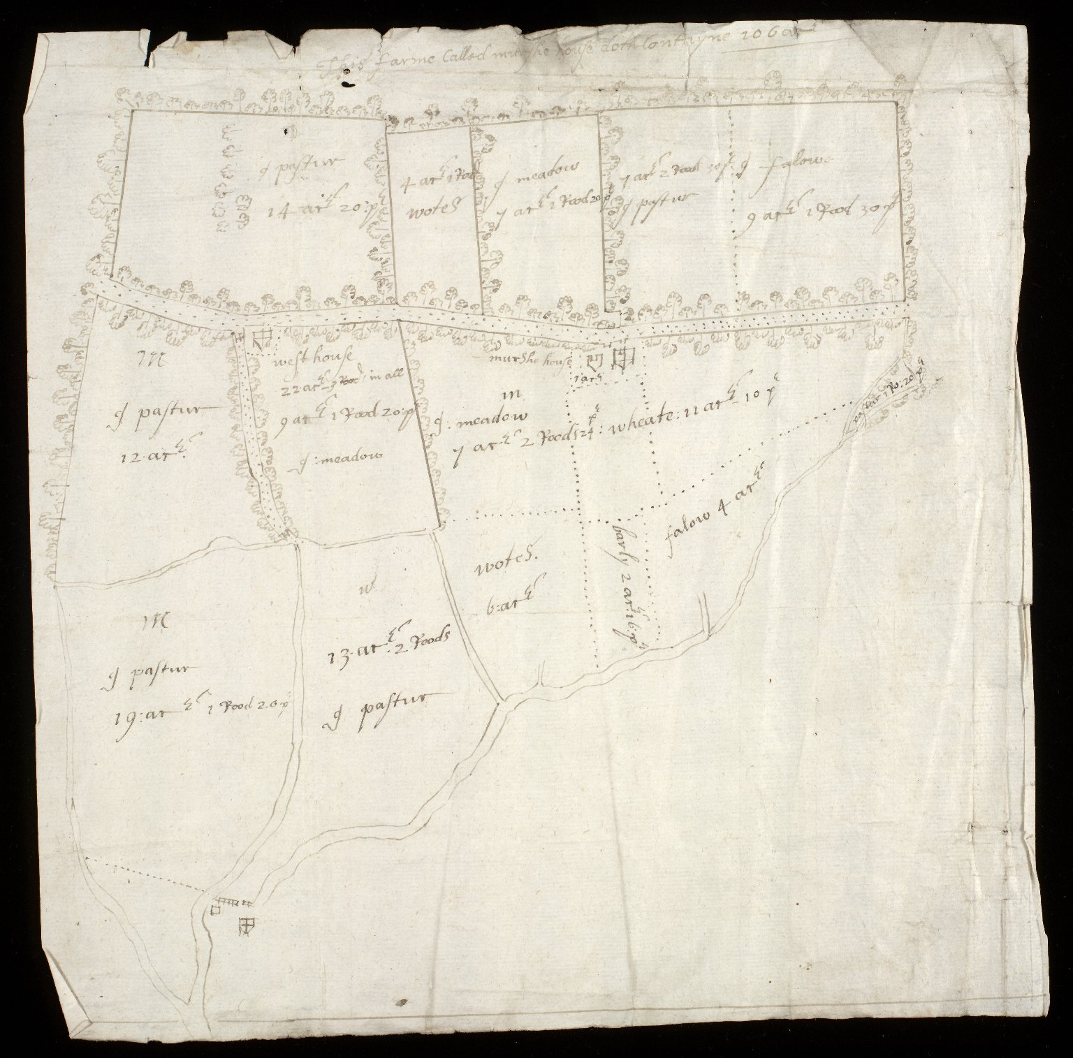 [Map of the estate of Sir Alex. Cumming of Culter] [2 of 6]