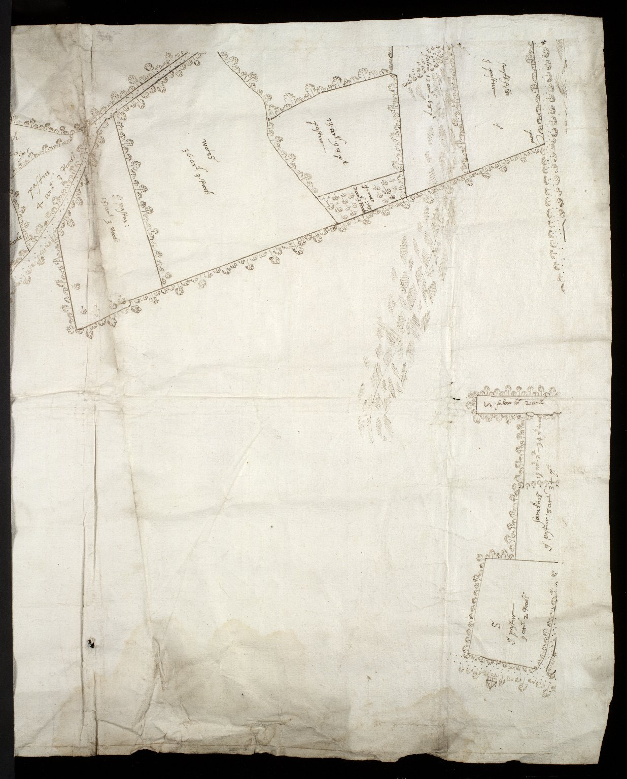 [Map of the estate of Sir Alex. Cumming of Culter] [4 of 6]