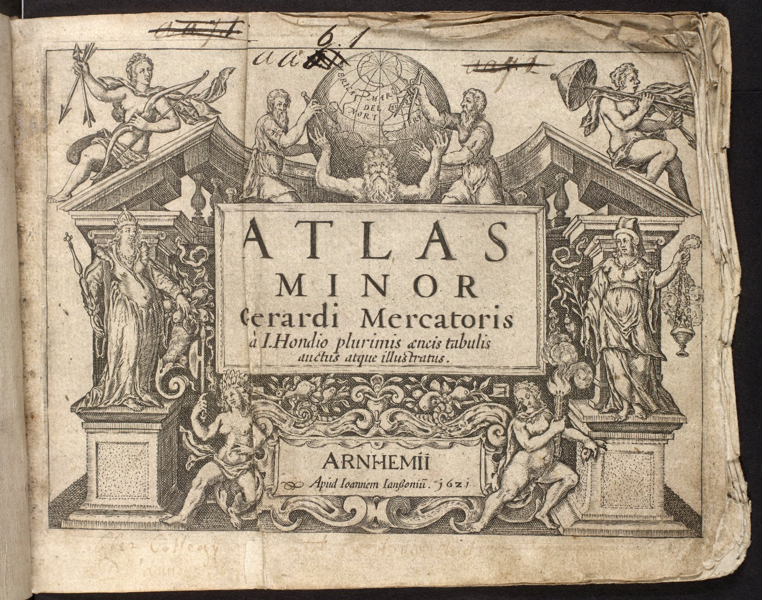 Atlas minor Gerardi mercatoris a I. Hondio [i.e. Hondius] plurumis ancis tabulis auctus atque illustratus [1 of 1]