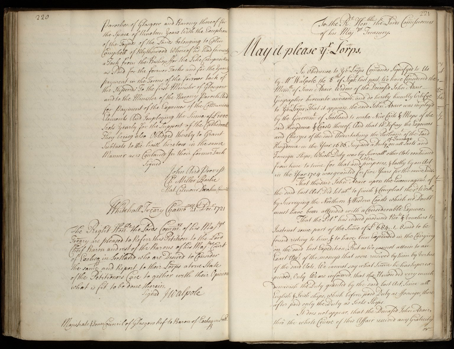 [Mr Baron Clerk's report to the Commission of Treasury on the memorial of Jean Adair] [1 of 2]