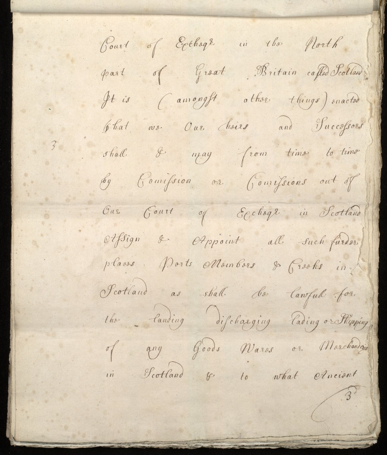 [Commission by Queen Anne to John Adair and others to appoint the town of Borrowstounness (Bo'ness) to be a port and to fix the bounds thereof] [03 of 39]
