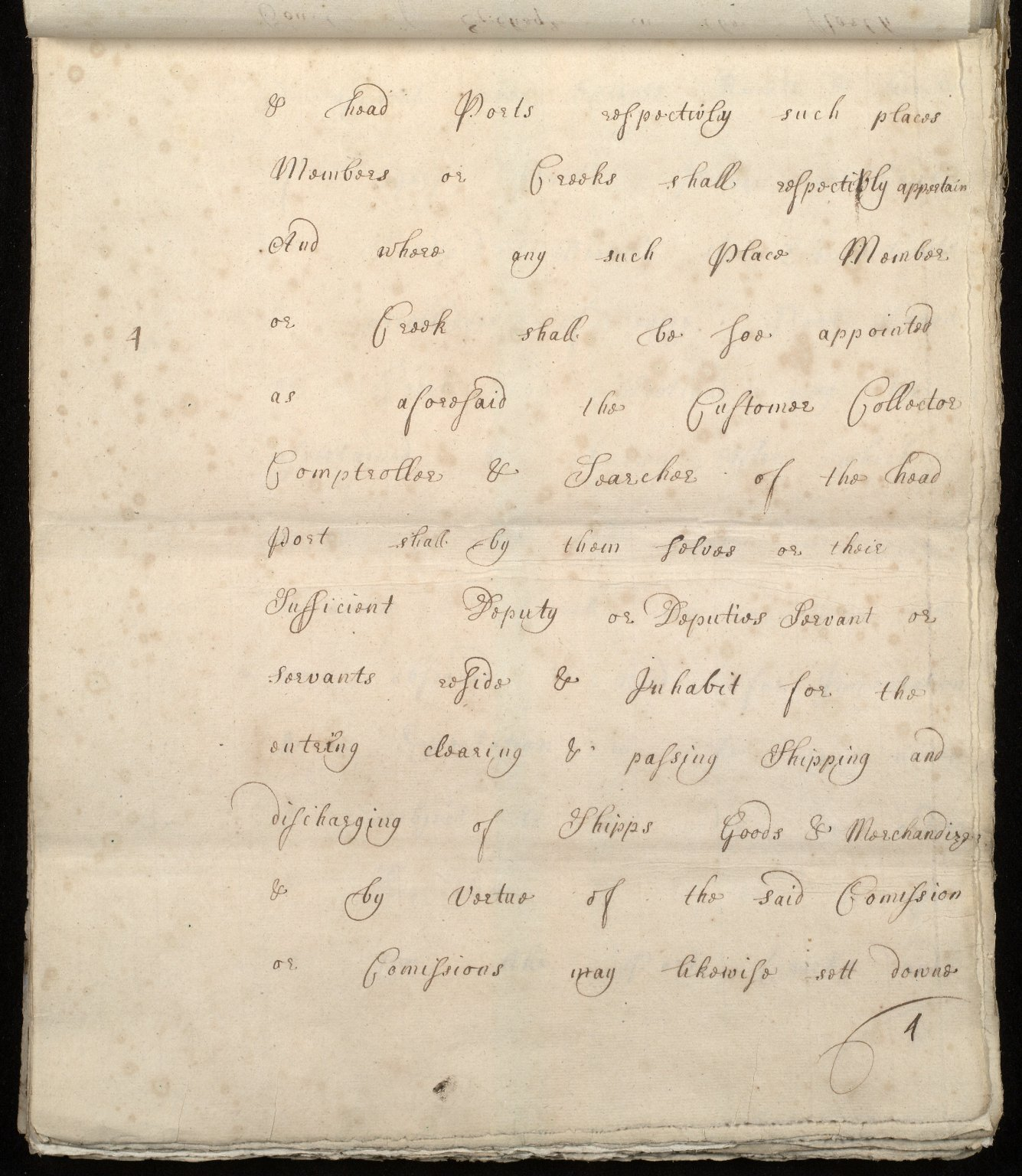 [Commission by Queen Anne to John Adair and others to appoint the town of Borrowstounness (Bo'ness) to be a port and to fix the bounds thereof] [04 of 39]