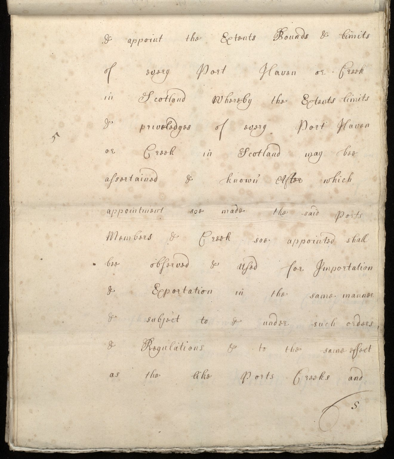 [Commission by Queen Anne to John Adair and others to appoint the town of Borrowstounness (Bo'ness) to be a port and to fix the bounds thereof] [05 of 39]