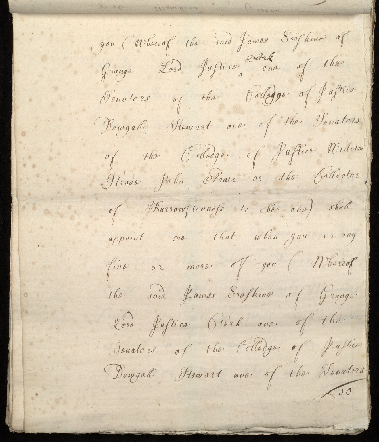 [Commission by Queen Anne to John Adair and others to appoint the town of Borrowstounness (Bo'ness) to be a port and to fix the bounds thereof] [10 of 39]
