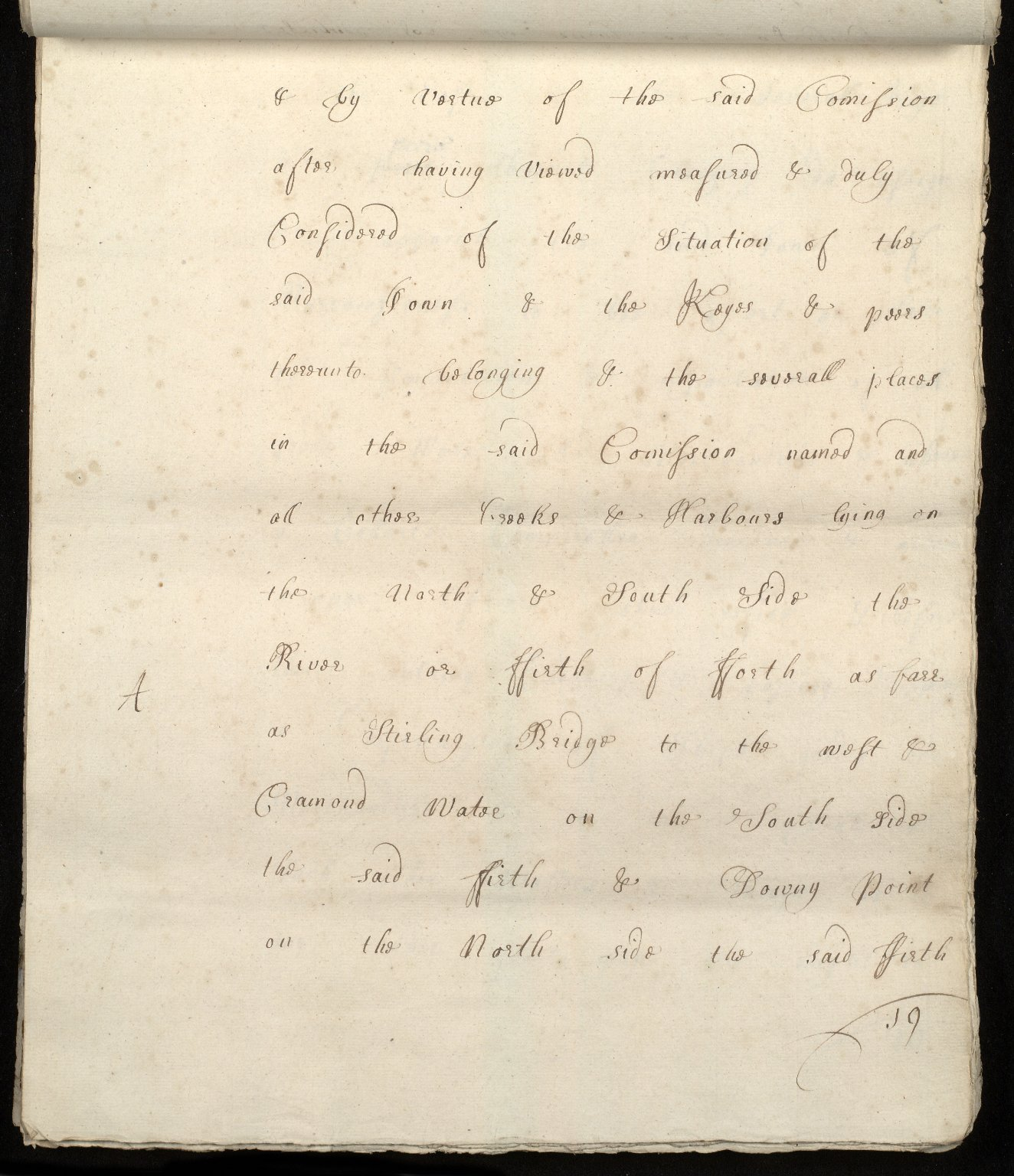 [Commission by Queen Anne to John Adair and others to appoint the town of Borrowstounness (Bo'ness) to be a port and to fix the bounds thereof] [19 of 39]