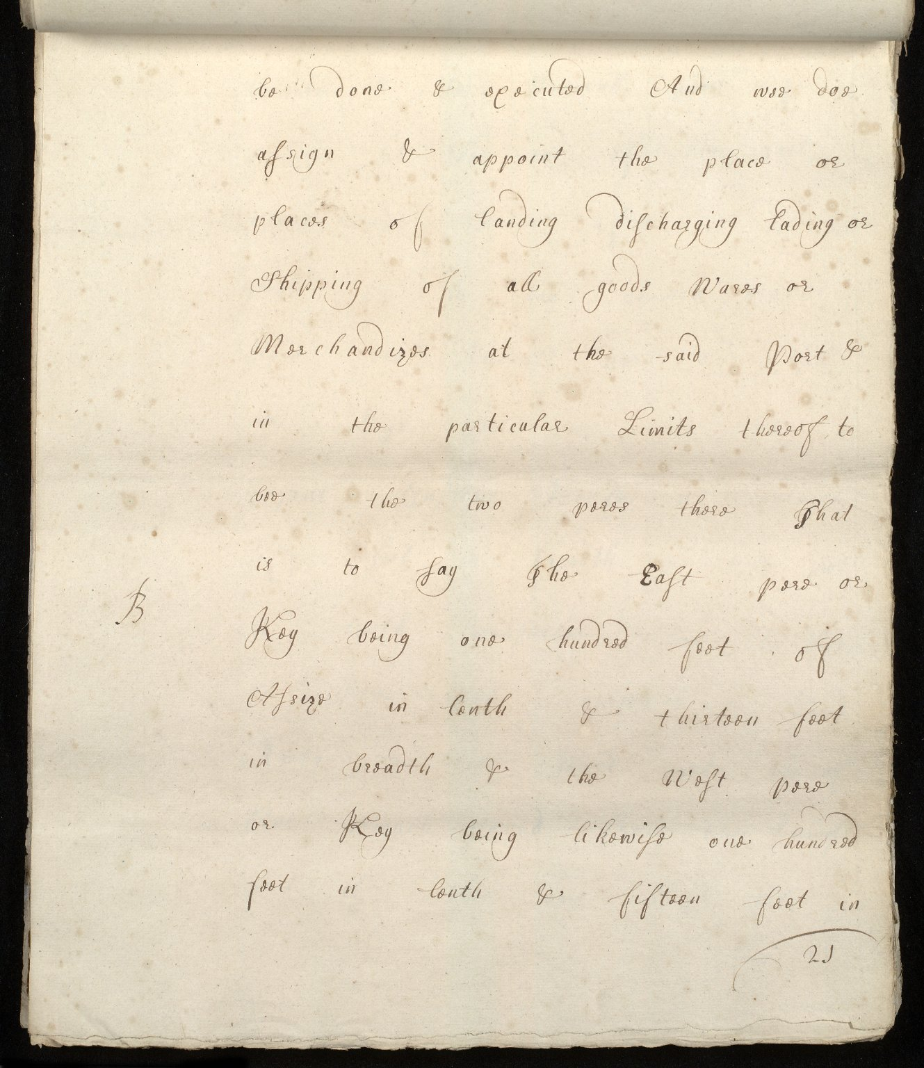 [Commission by Queen Anne to John Adair and others to appoint the town of Borrowstounness (Bo'ness) to be a port and to fix the bounds thereof] [21 of 39]