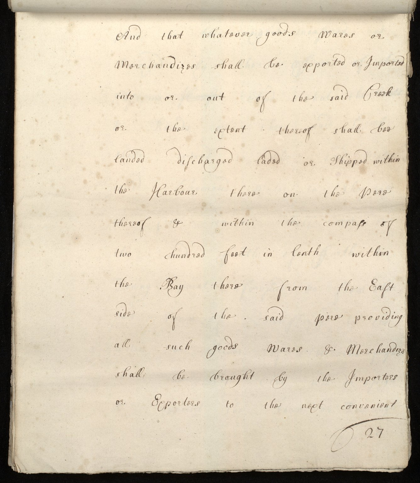 [Commission by Queen Anne to John Adair and others to appoint the town of Borrowstounness (Bo'ness) to be a port and to fix the bounds thereof] [27 of 39]
