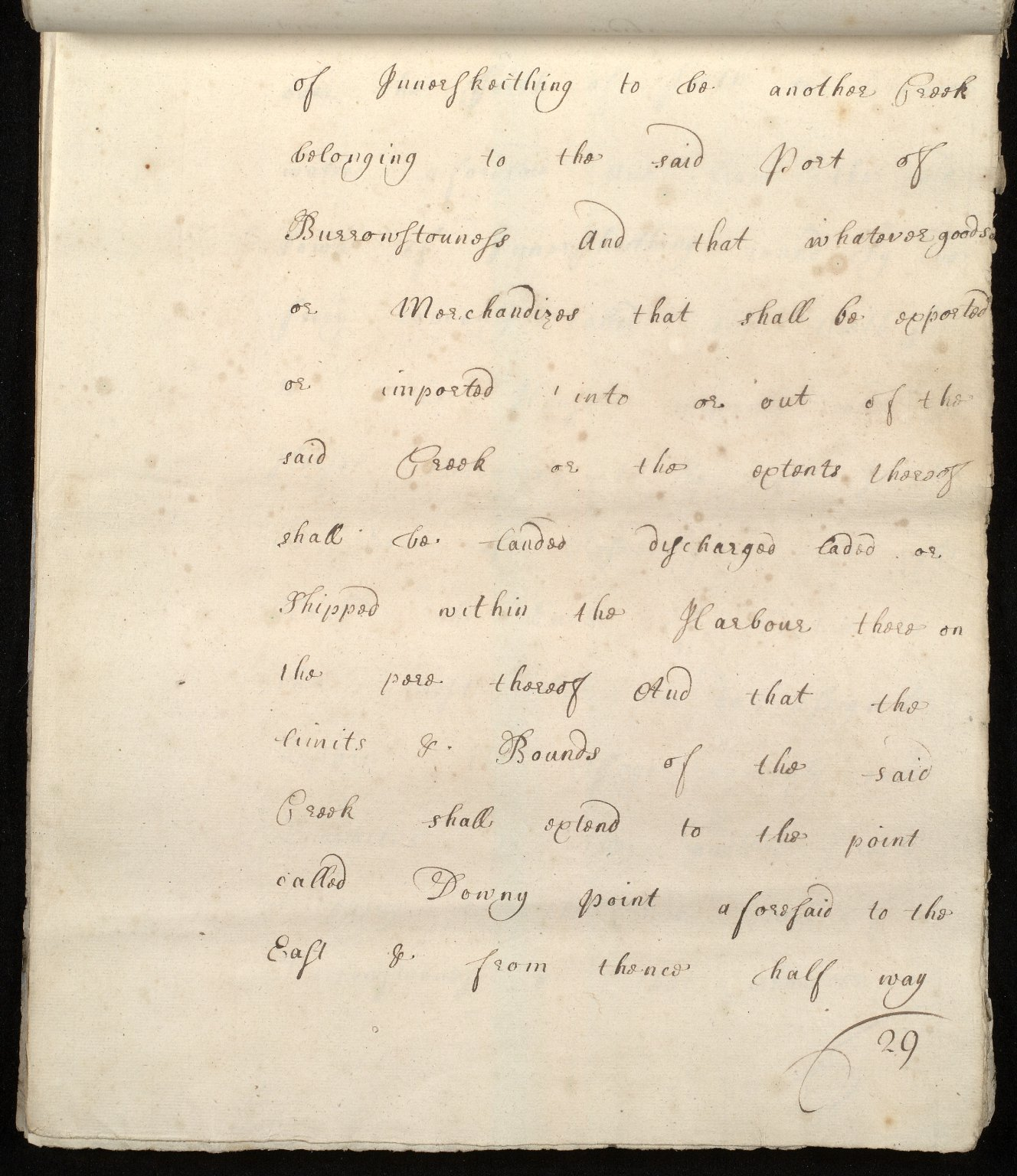 [Commission by Queen Anne to John Adair and others to appoint the town of Borrowstounness (Bo'ness) to be a port and to fix the bounds thereof] [29 of 39]