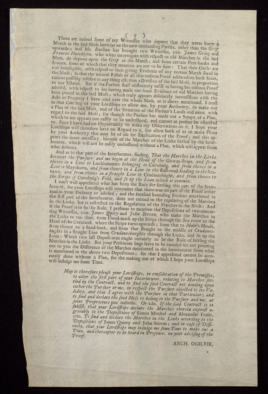 The Petition of Charles Fraser of Inveralochy [3 of 3]