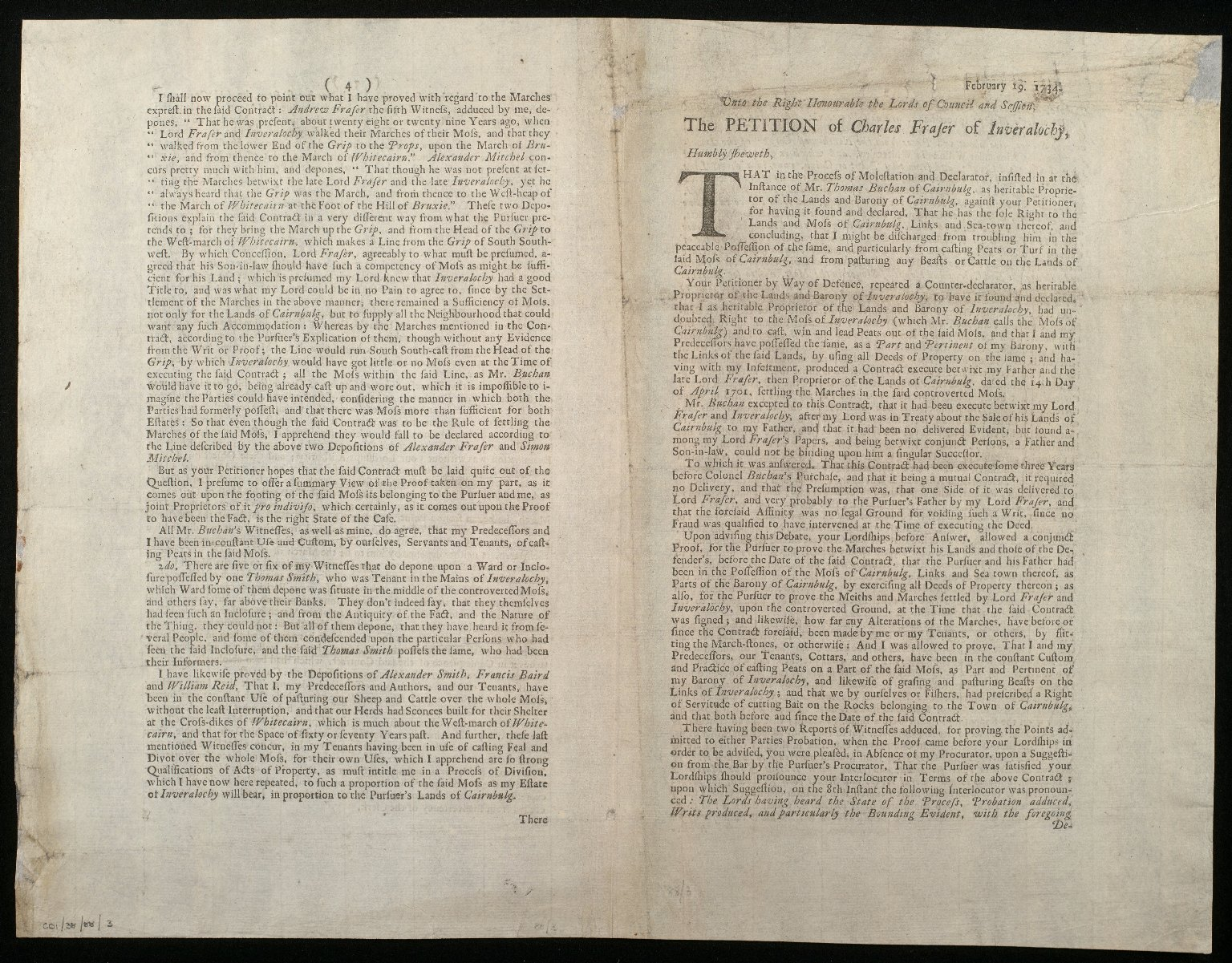 The Petition of Charles Fraser of Inveralochy [1 of 3]