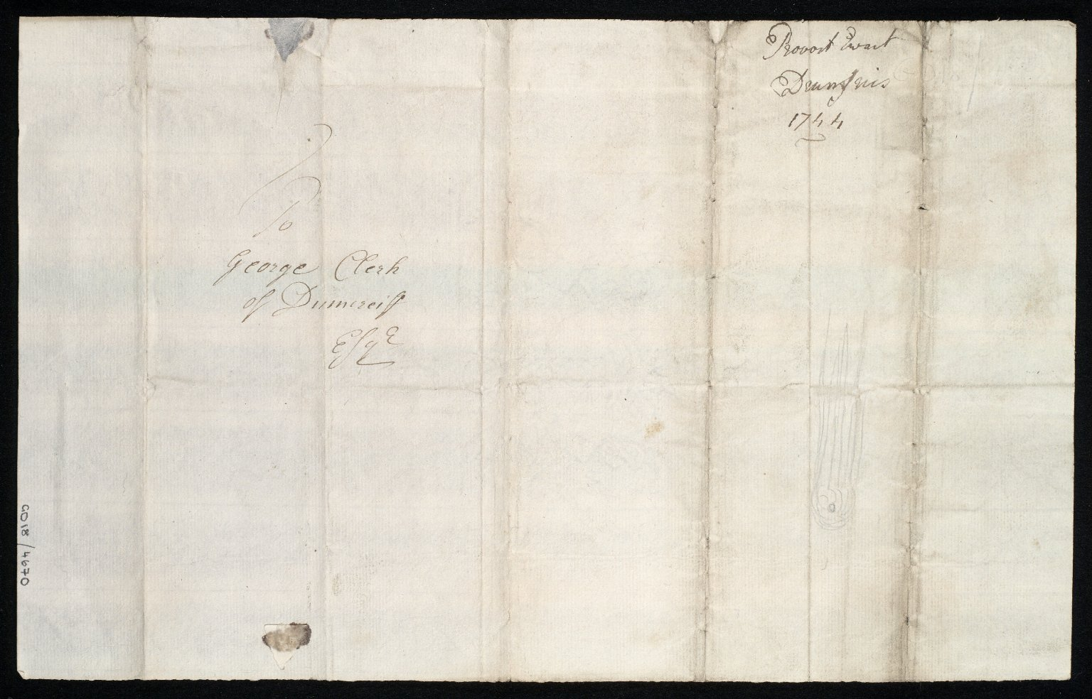 [Letter from Provost Joseph Ewart, Dumfries, to George Clerk of Dumfries regarding the engraving and printing of Thomas Winter's chart of the Solway Firth (1742) by Richard Cooper] [2 of 2]