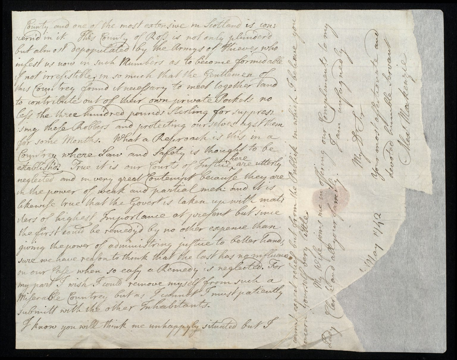 [Letter from Alexander Mackenzie to Sir John Clerk of Penicuik, recommending the proposal of a friend to survey the coasts of Orkney] [2 of 2]