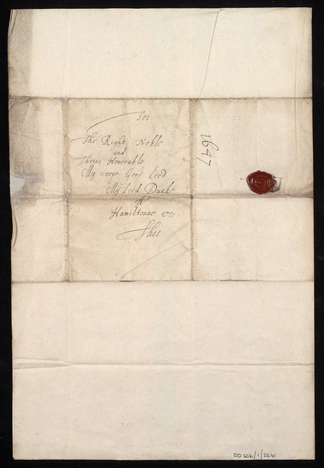 [Letter from James Gordon, Strathloch, to the Duke of Hamilton, 25 May 1647, [2 of 2]