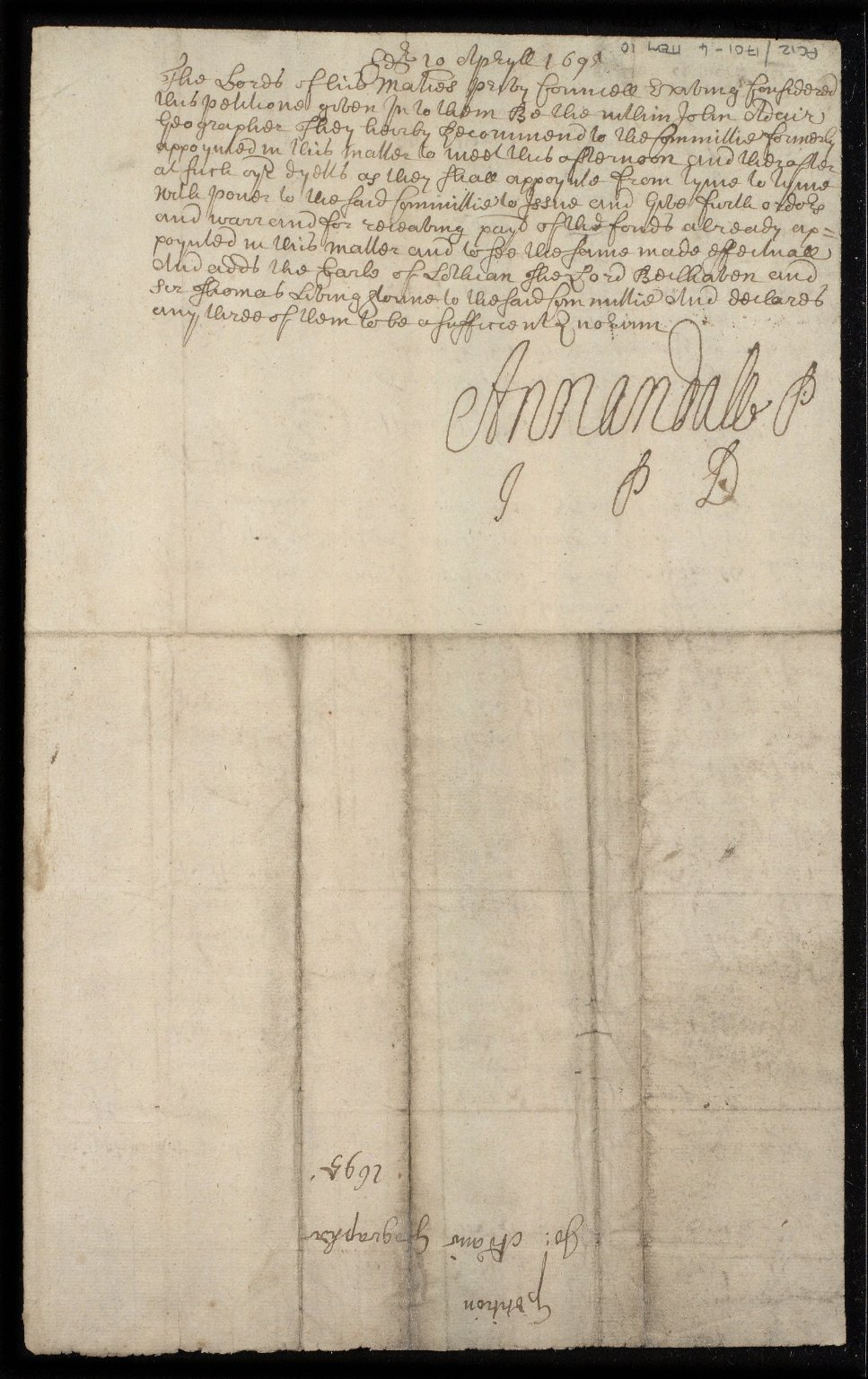 The petition of Jo[hn] Adair Geographer [to the Privy Council] [2 of 2]
